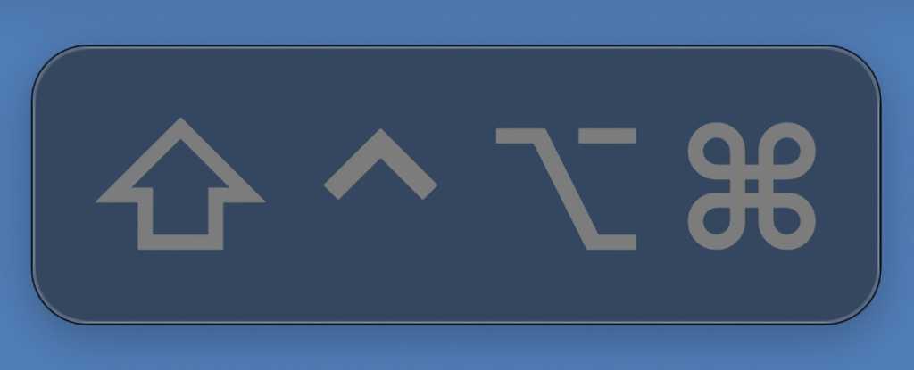 macOS Big Sur Sticky Keys indicator display