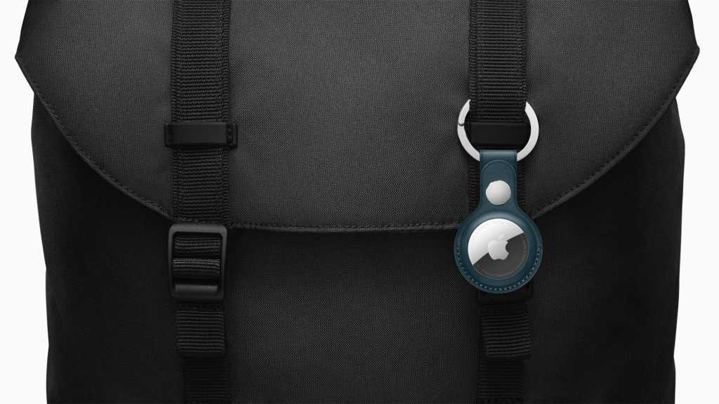 Apple leather key ring