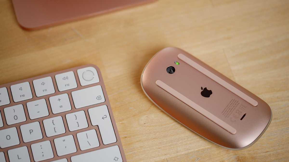 24-inch iMac Touch ID Magic Keyboard Magic Mouse Pink 2021