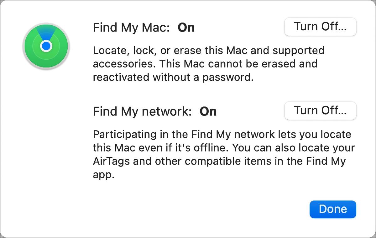العثور على إعدادات Mac الخاصة بي