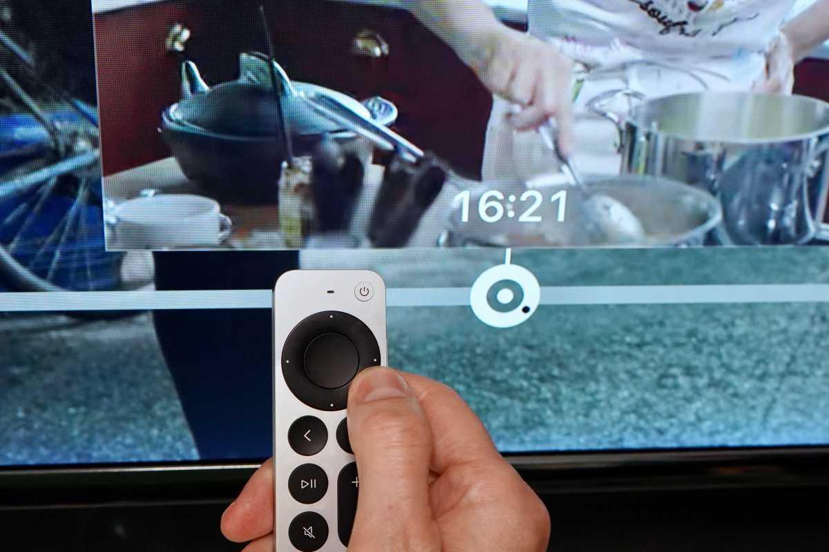 Siri Remote scrubbing