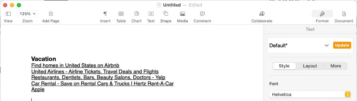 Safari Copy Links tabs