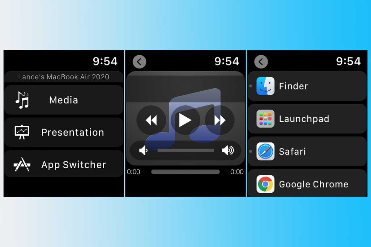 Control app Apple Watch