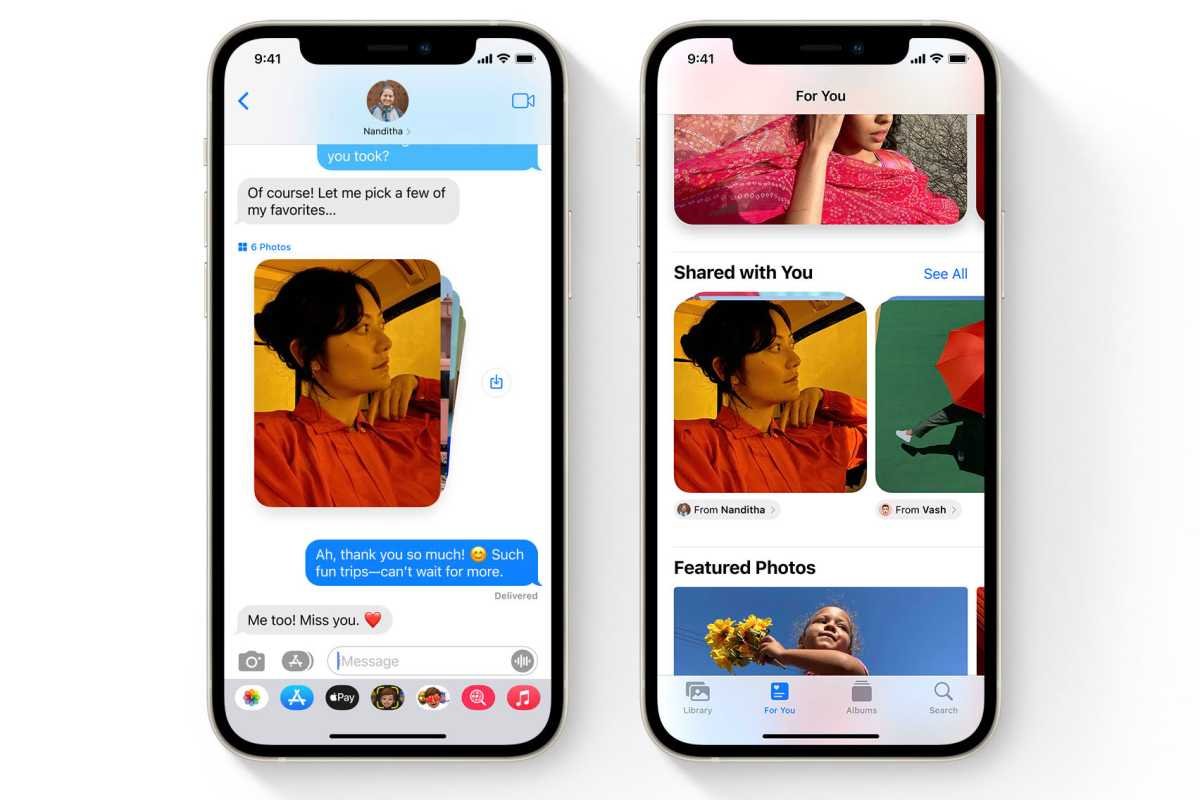 iOS 15 photos in messages