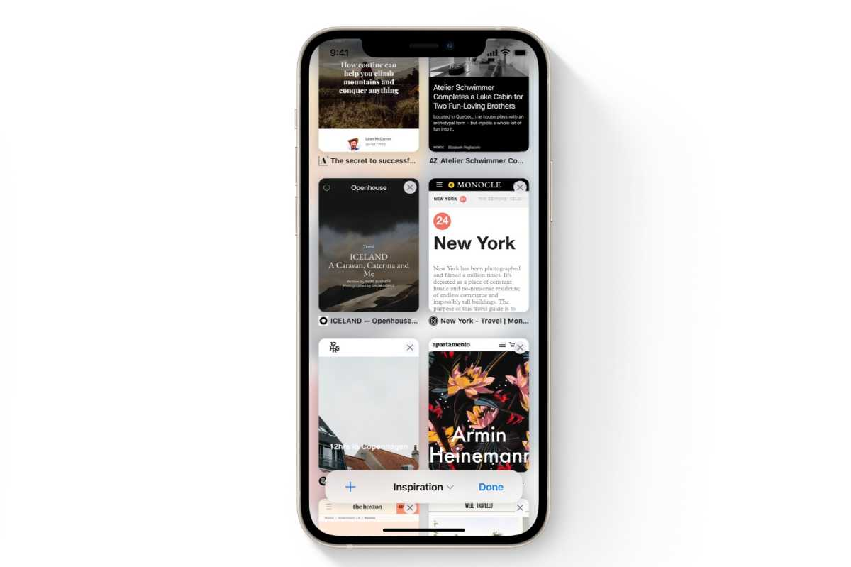 iOS 15 tab groups