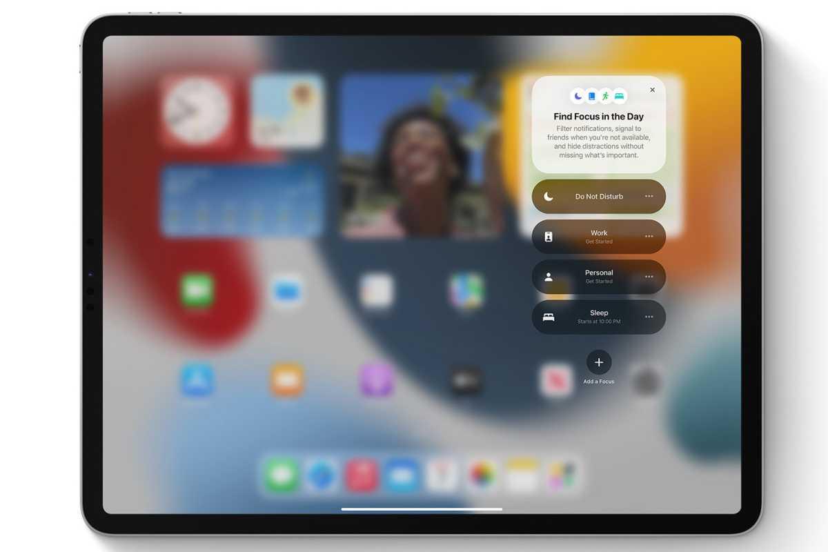 iPadOS 15 フォーカスモード
