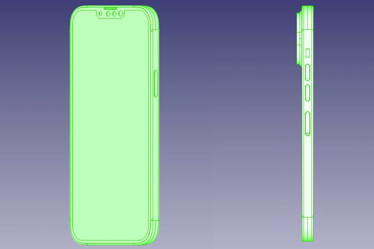 iPhone 13 cad drawing