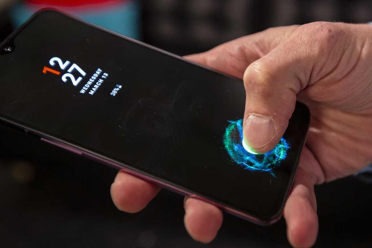 in-display fingerprint scanner