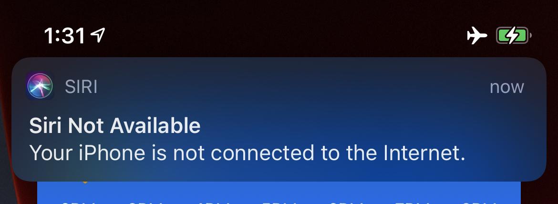 Siri offline