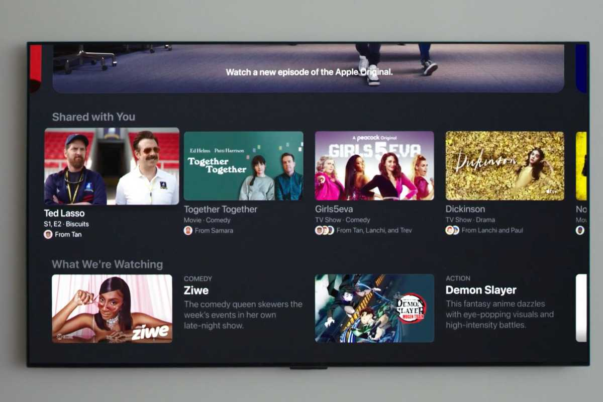 tvOS 15 shared with you