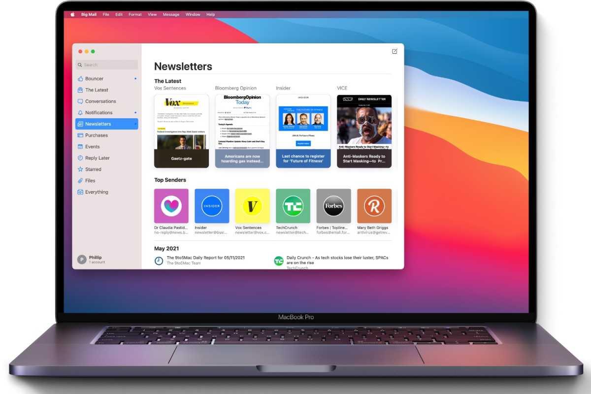 Big Mail MacBook Pro