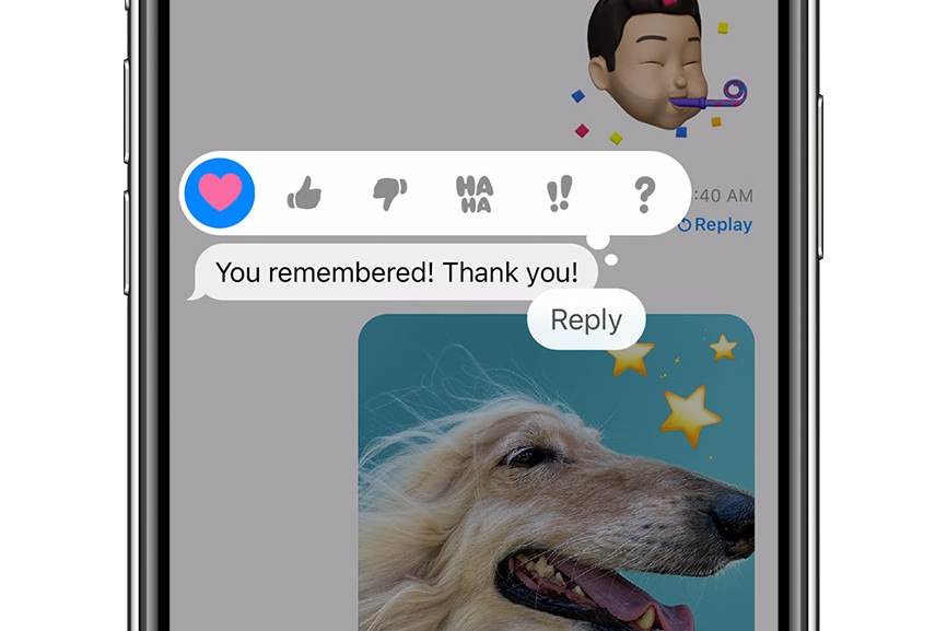 iOS 14 Tapback