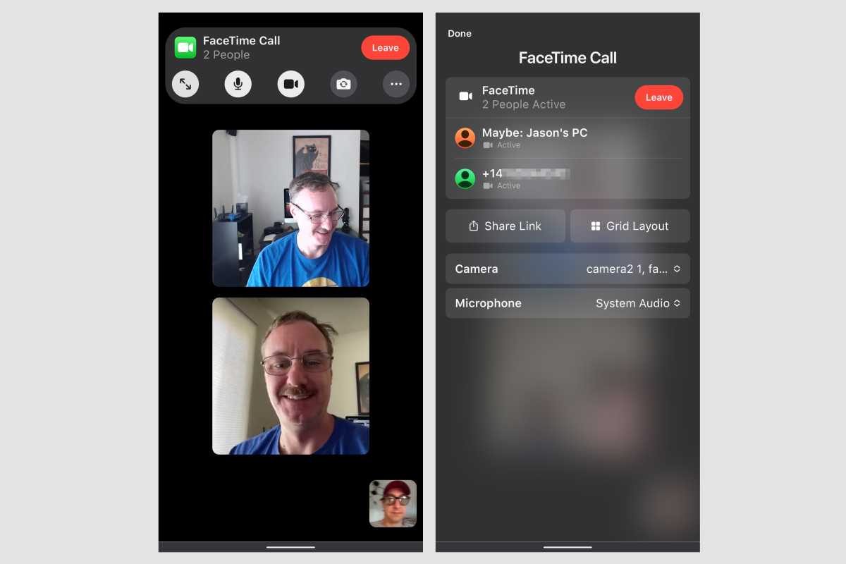 ios15 facetime android call
