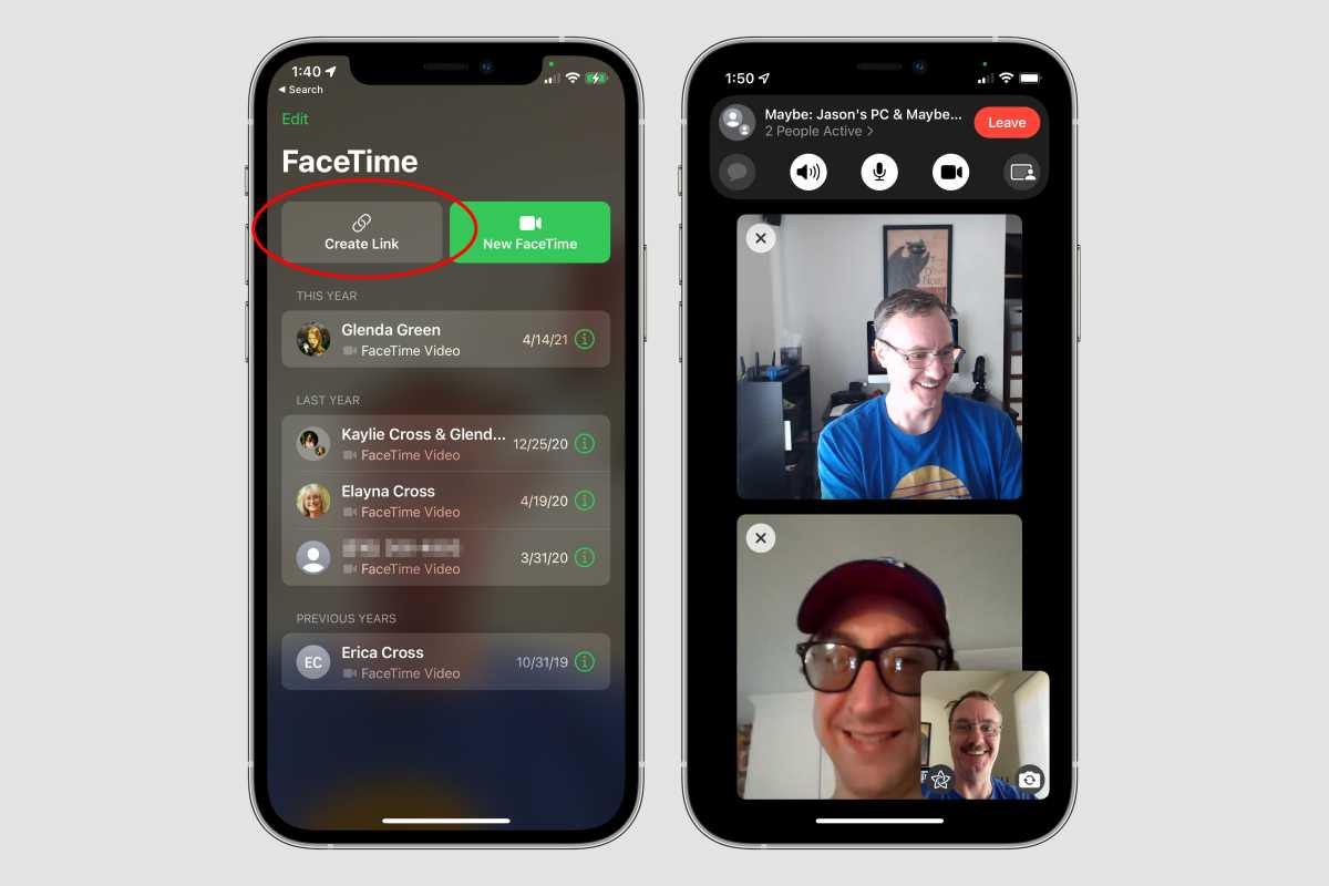 ios15 facetime create link