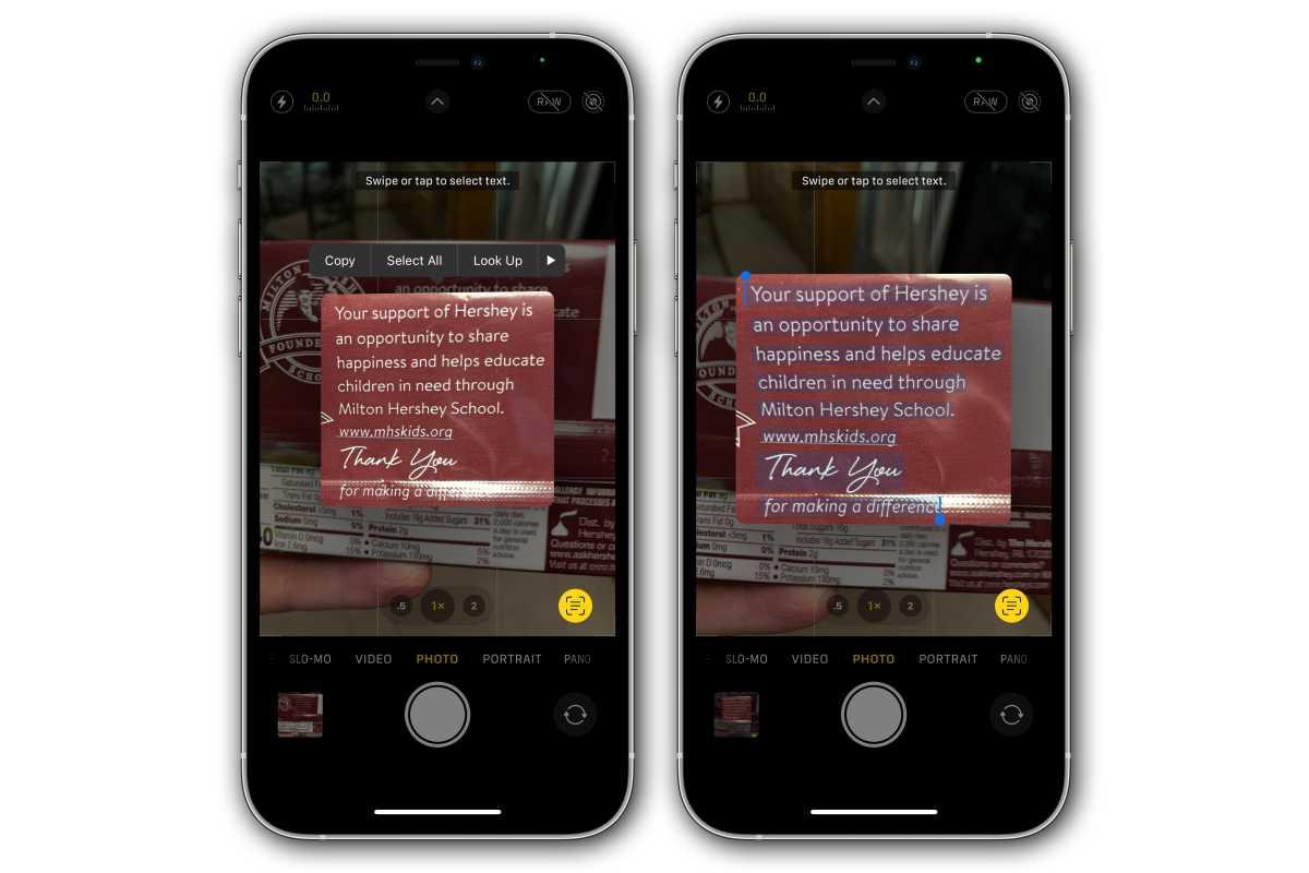 ios15 live text camera