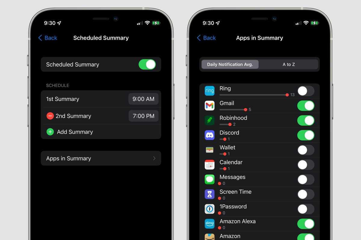 ios15 notification summary apps
