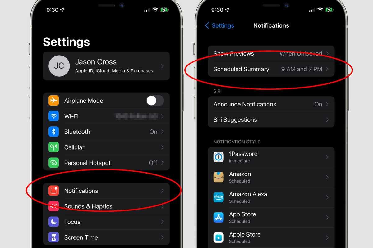 ios15 notification settings
