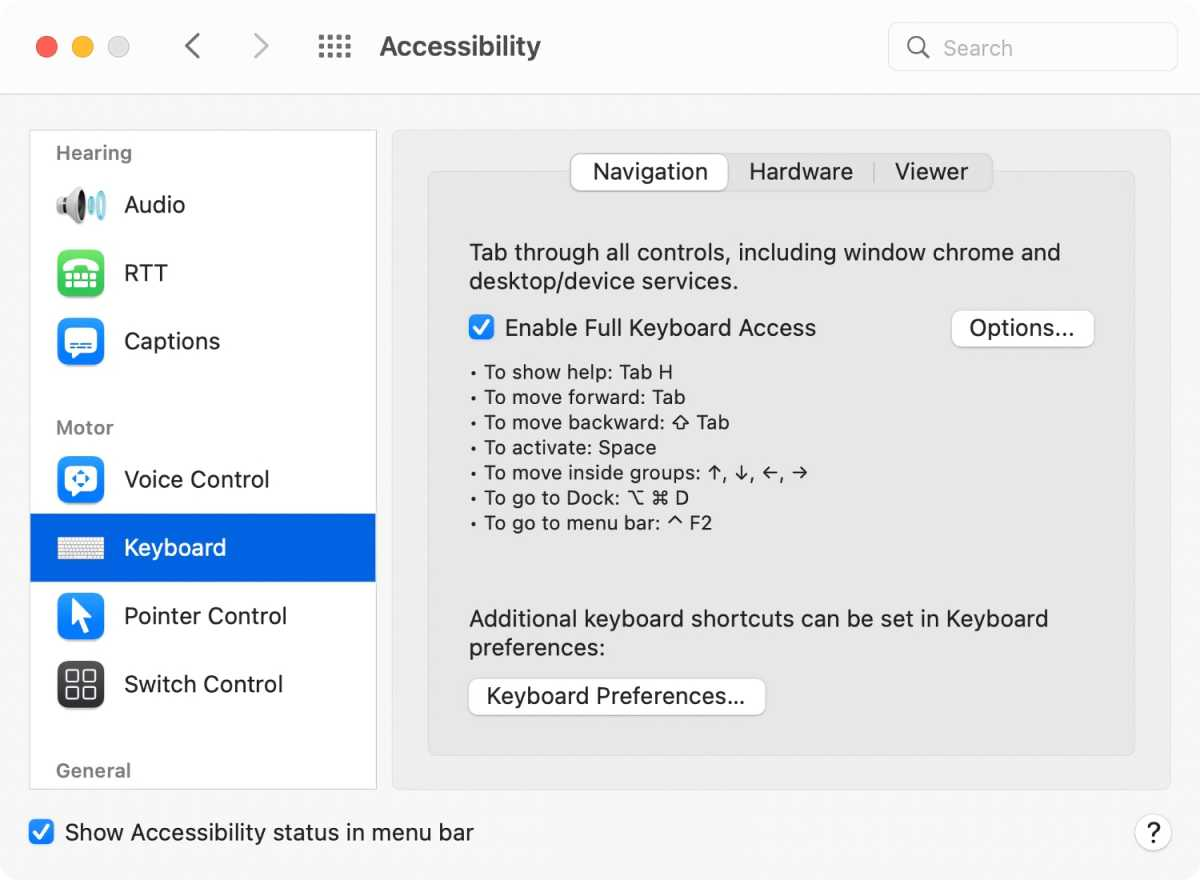 macos monterey accessibility keyboard settings