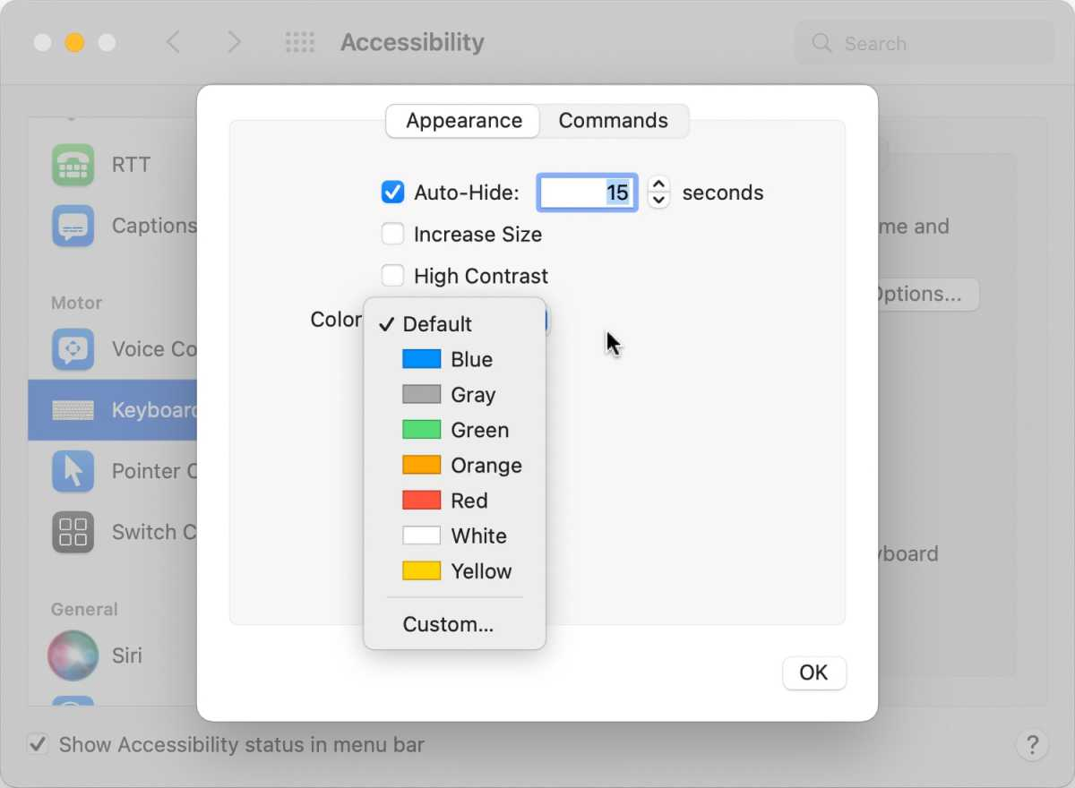 macos monterey full keyboard access options