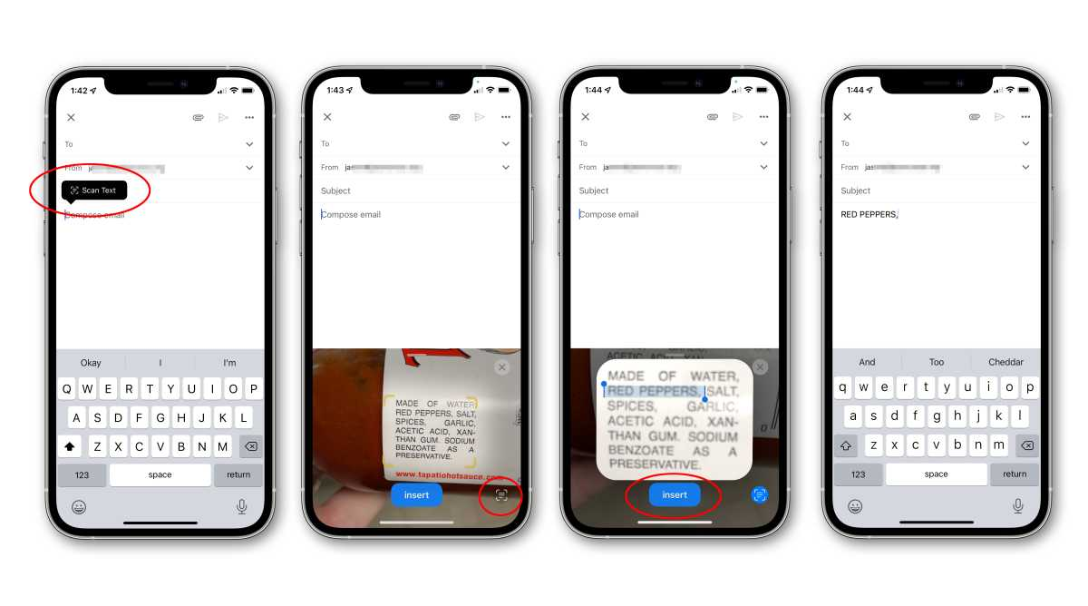 ios15 how to scan text