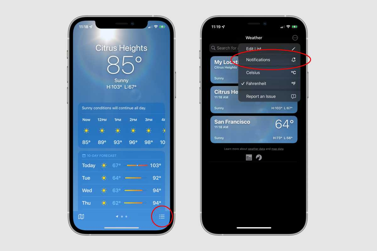 ios15 weather notifications
