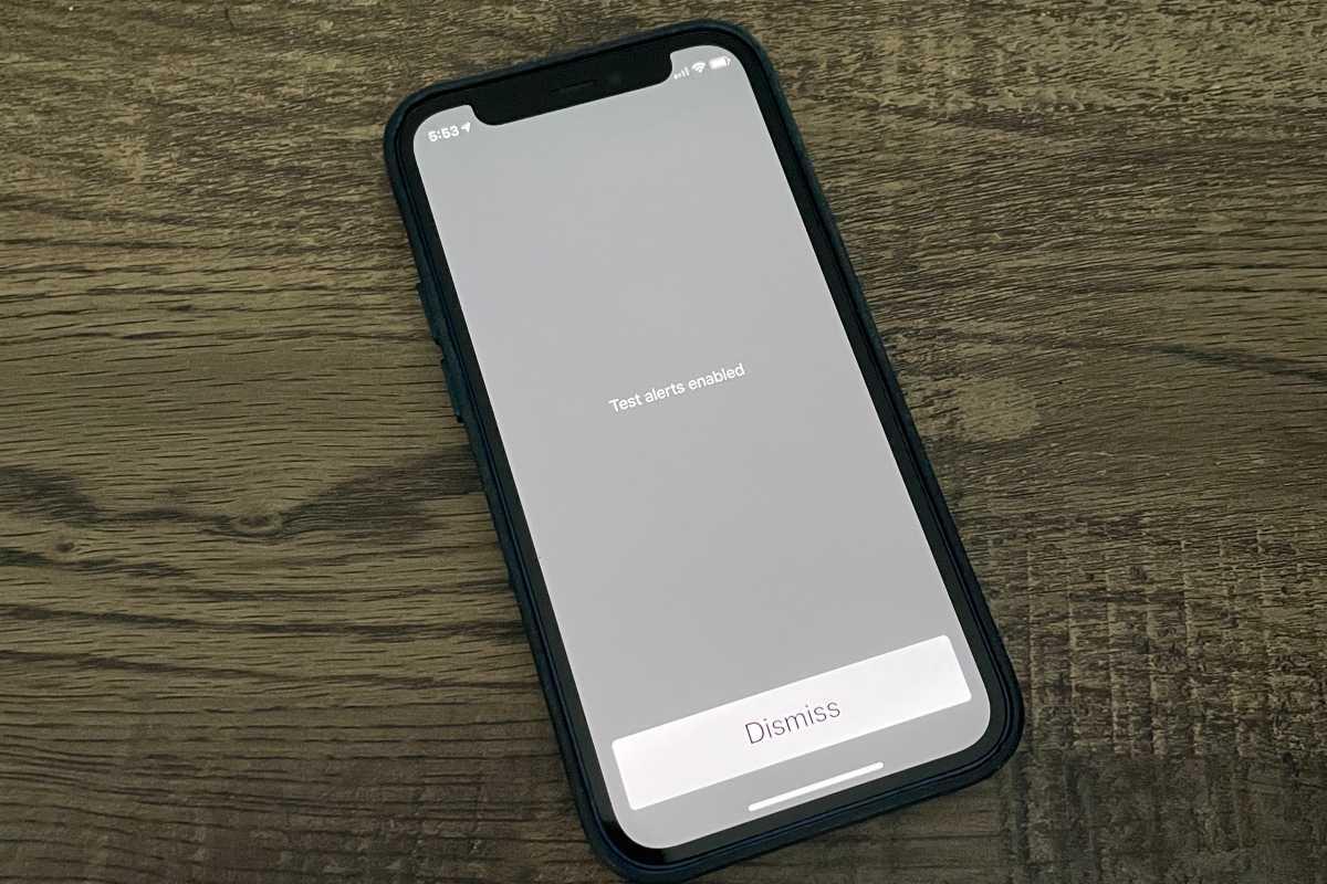 iPhone emergency alert test