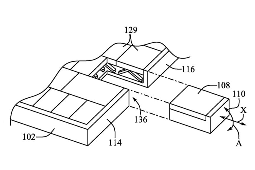 Apple patent keyboard key mouse