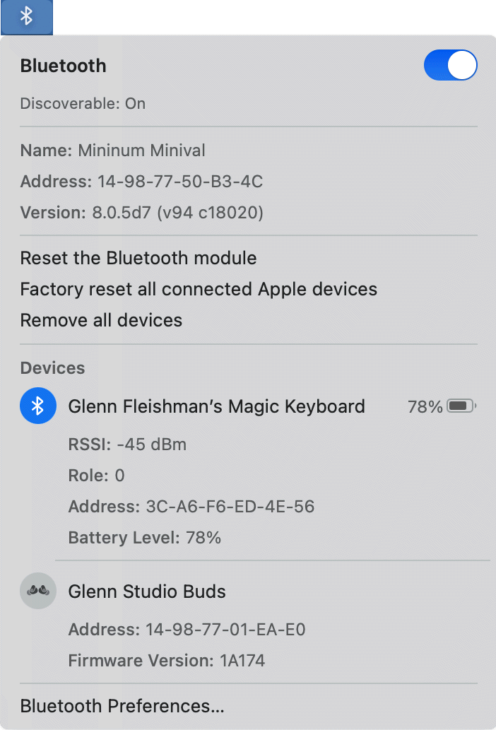Mac Bluetooth reset