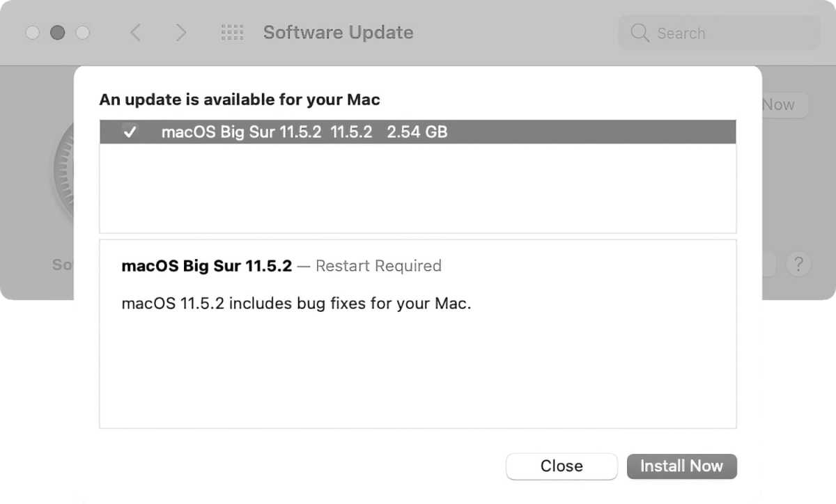 macOS Big Sur 11.5.2 update