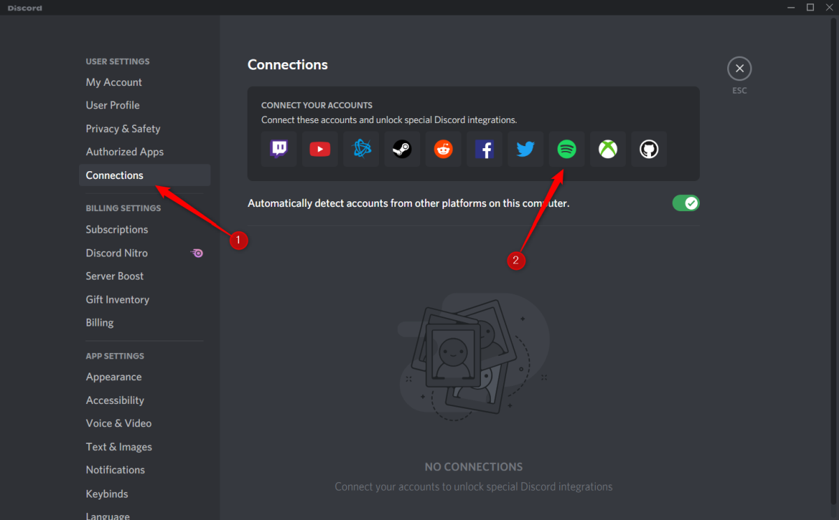 Connect Discord with Spotify