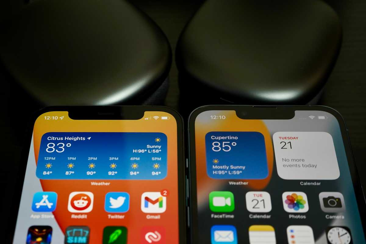 iPhone notch comparison