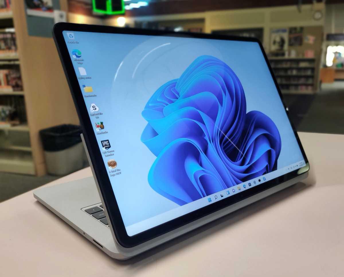 Microsoft Surface Laptop Studio backwards