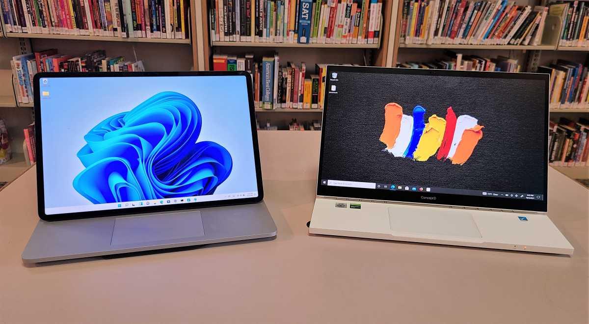 Microsoft Surface Laptop Studio versus Acer ConceptD Ezel
