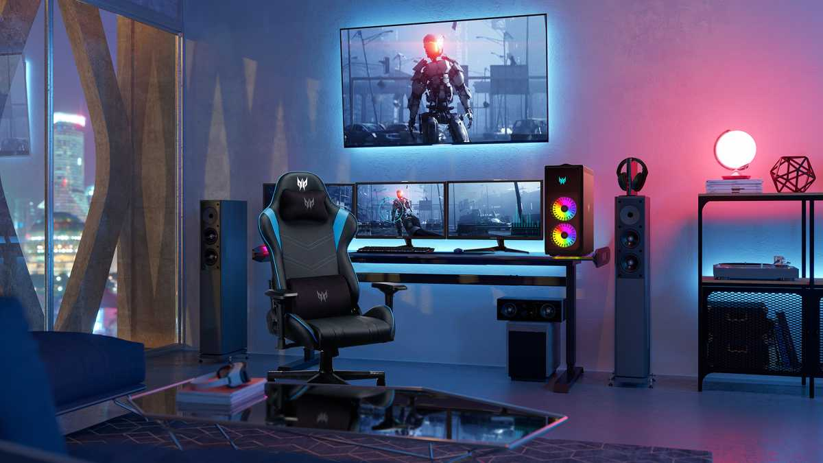 This is one wicked gaming setup.