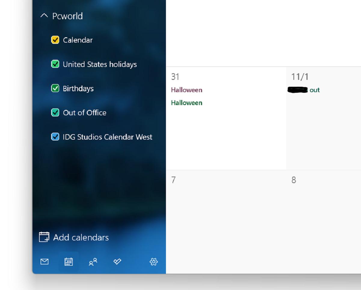 Windows 11 Mail Calendar shared calendars