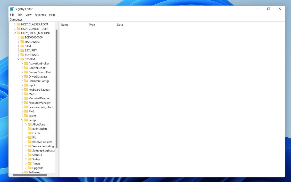 Windows 11 registry editor