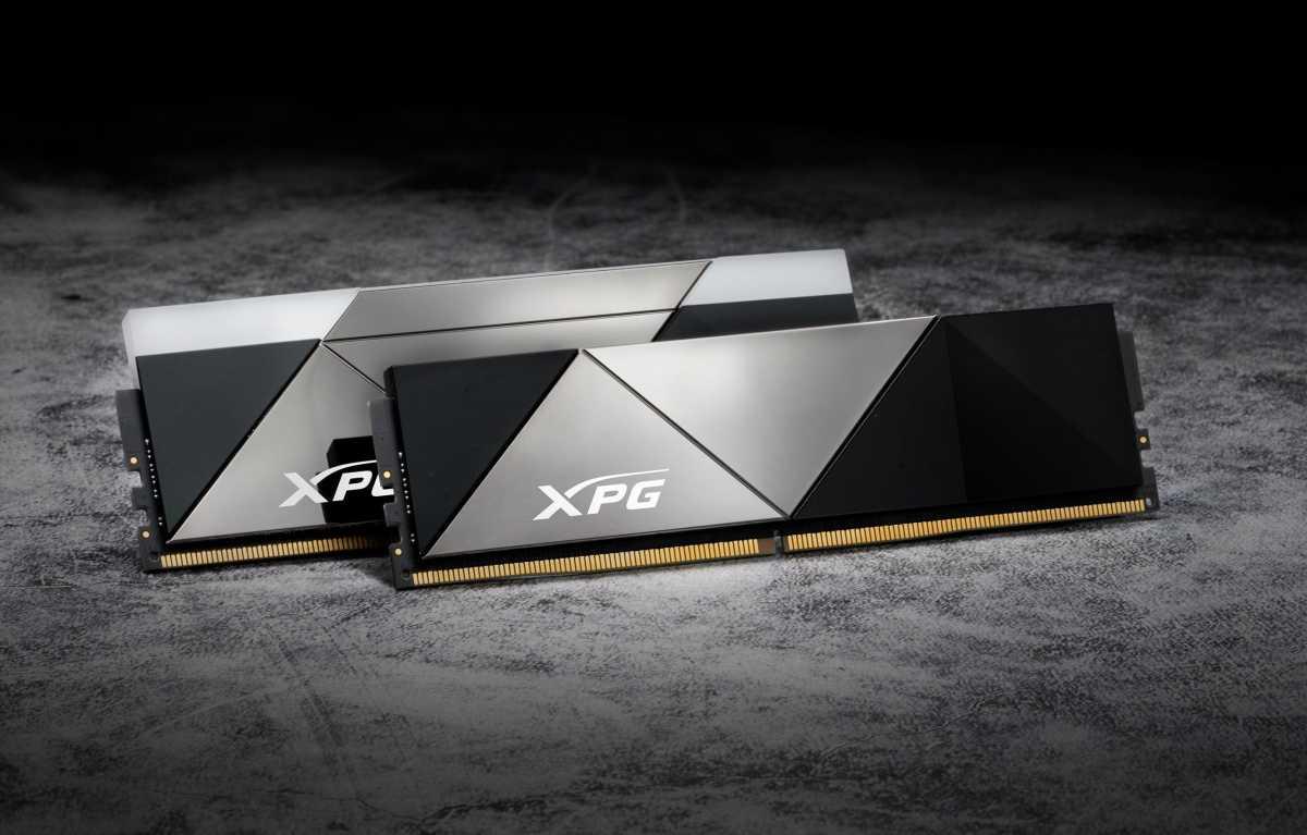 XPG DDR5 RAM stock image