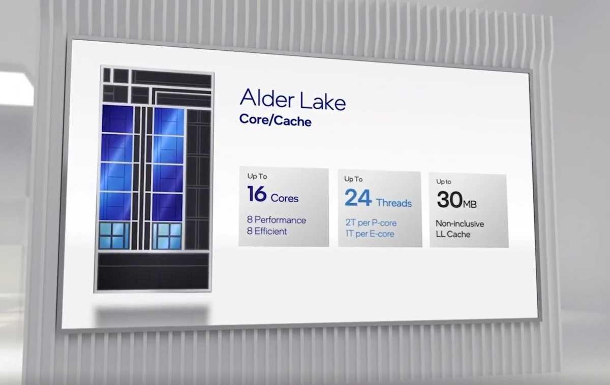 Alder Lake core design slide